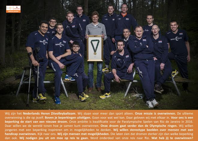 Manifest Nederlands zitvolleybalteam