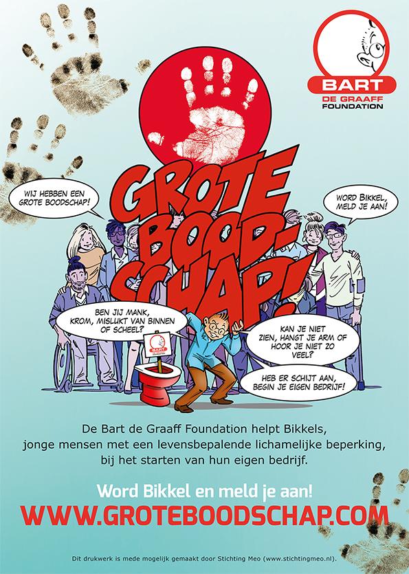 Poster Bikkelwerfcampagne BGF 2016