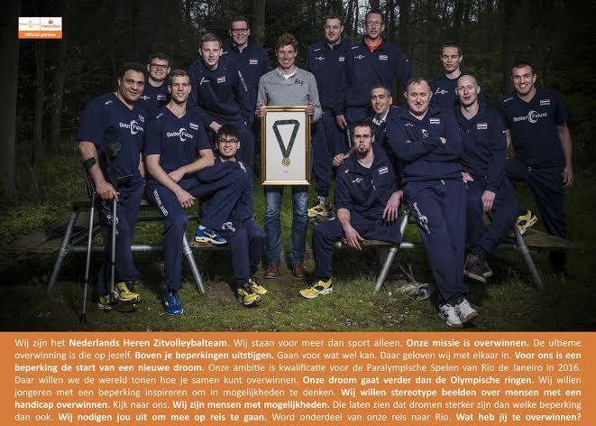 Manifest Nederlands zitvolleybalteam